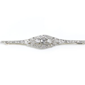 Antique Art Deco Diamond Bar Brooch