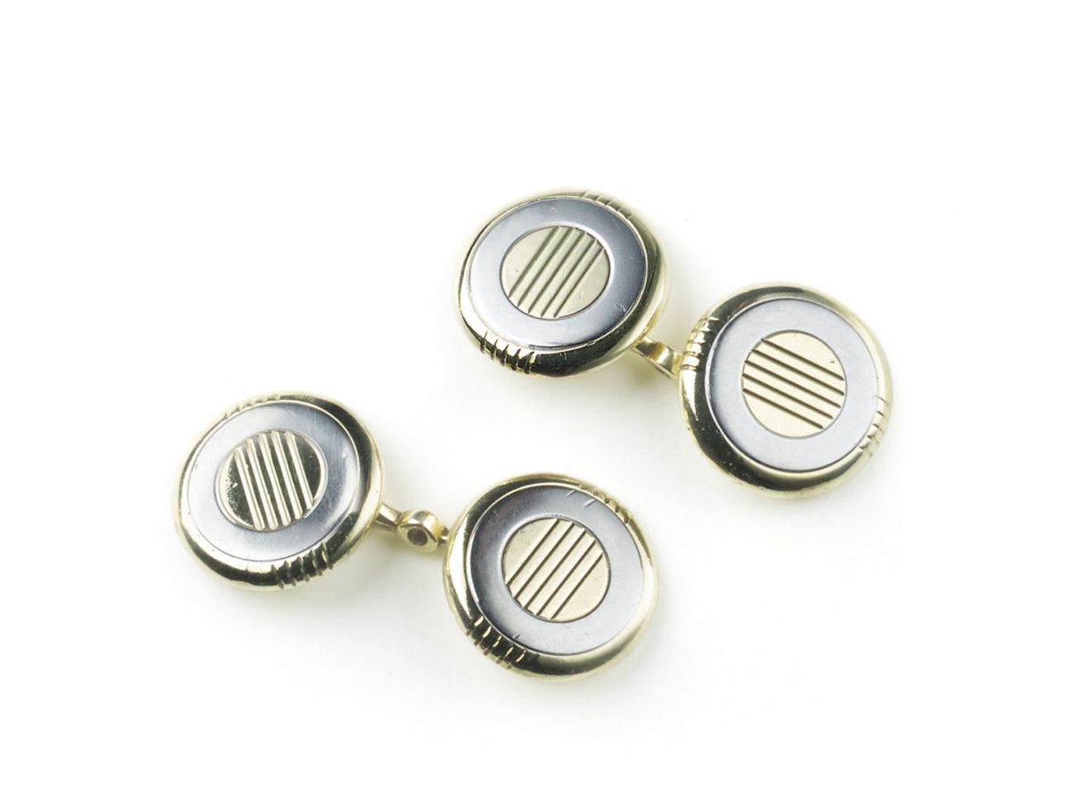 Antique Art Deco Cartier Gold Cufflinks
