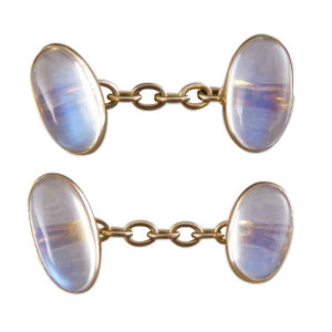 Antique Edwardian Moonstone Cufflinks