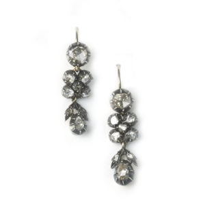 Antique Georgian Rose Cut Diamond Earrings