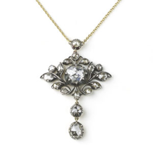 Antique Georgian Rose Cut Diamond Pendant