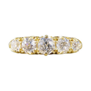Antique Victorian Five Stone Diamond Ring