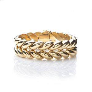 Vintage Herringbone Link Bracelet