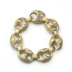 Vintage Anchor Link Gold Bracelet