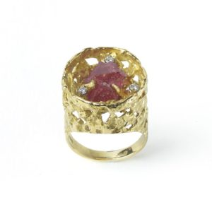 Vintage Spinel & Diamond Ring by John Donald