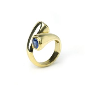 Vintage Two-Stone Sapphire Crossover Ring