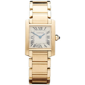 Ladies' Cartier Tank Francaise 18ct yellow gold bracelet watch ref 1820