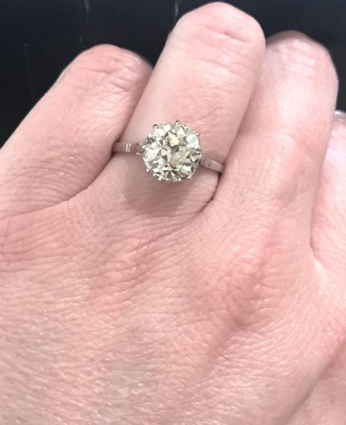 Jewellery Discovery- Antique Old Cushion Cut Diamond Engagement Ring
