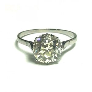 Old mine diamond cushion cut diamond over 2 carats 3 carats 2.90, antique engagement ring