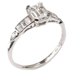 1.01 Carat GIA Cert Diamond Platinum Engagement Ring
