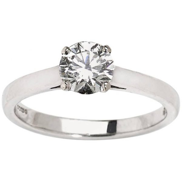 0.75 Carat Diamond Solitaire Engagement Ring