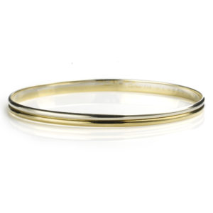 18ct Gold Reeded Bangle