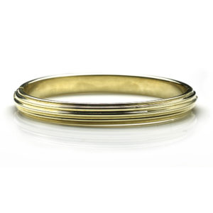 Vintage Reeded Gold Bangle