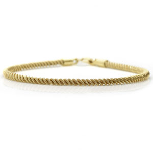 18ct Yellow Gold Rope Design Bracelet