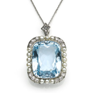 Antique Edwardian Aquamarine Pendant