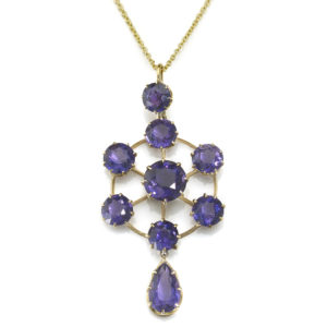 Antique Edwardian Amethyst Pendant