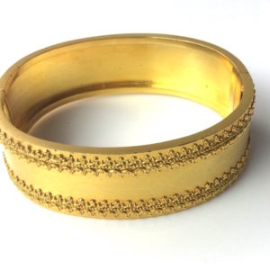 Antique Victorian Etruscan 18ct Yellow Gold Cuff Bangle