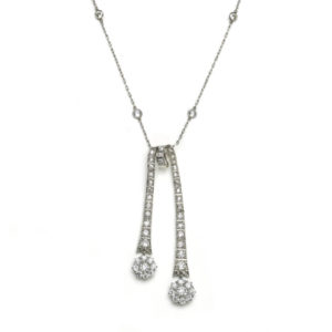 Antique Edwardian Diamond Négligée Pendant