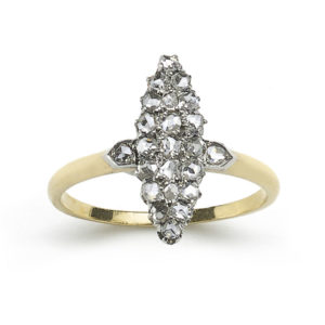 Antique Victorian Diamond Navette Ring