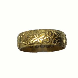 Antique Victorian Gold Wedding Band
