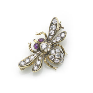 Diamond Set Bee Brooch