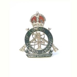 Rare Antique 4th County of London Yeomanry Military Cap Badge Sweetheart Lapel Pin Brooch