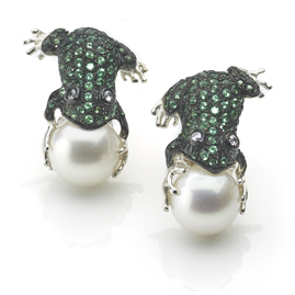 Emerald Green 'Frog Prince' Earrings