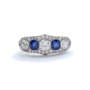 Antique Art Deco Sapphire & Diamond Ring