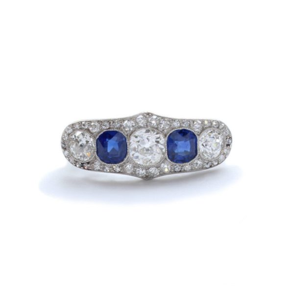 Antique Art Deco Sapphire & Diamond Ring