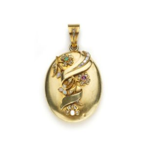 Antique Victorian Gold & Gem Set Locket