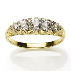Victorian Style Five Stone Diamond Ring