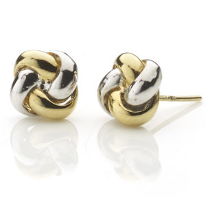 Yellow & White Gold Knot Earrings