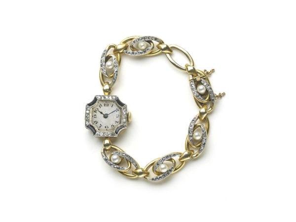 Antique Art Deco Diamond Set Cocktail Watch