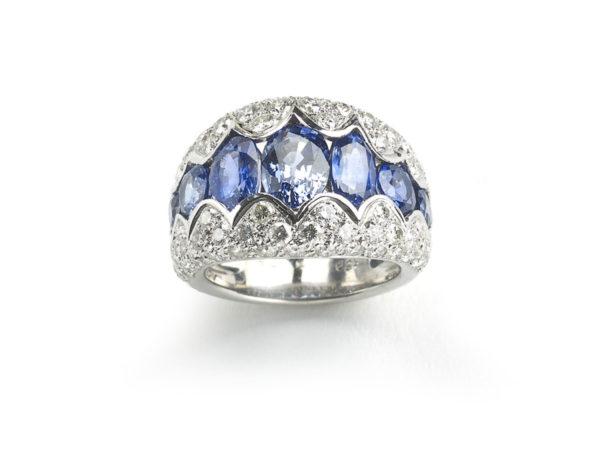 Retro Sapphire & Diamond Ring