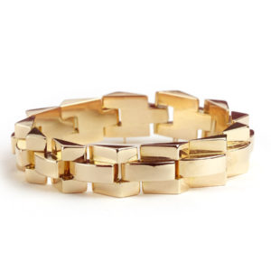 Vintage Gold Tank Bracelet