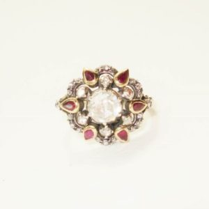 Antique Ruby & Rose Diamond Ring