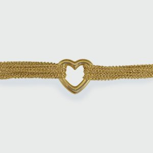 Tiffany & Co. 18ct Yellow Gold Love Heart Strand Toggle Bracelet