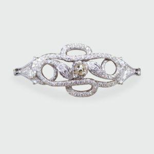 Contemporary Diamond Set Double Snake Bracelet