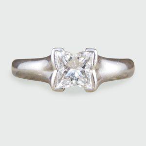 Boodles Princess Cut Diamond Solitaire Platinum Engagement Ring