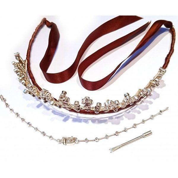 Antique Victorian Diamond Tiara Necklace, Circa 1890