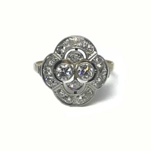 Antique Art Deco Diamond Cluster Ring