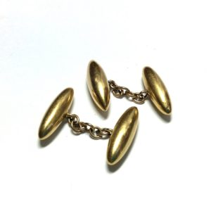Antique Victorian 18ct Yellow Gold 'Torpedo' Cufflinks
