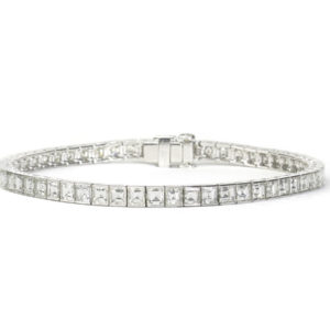 10.06ct Square Cut Diamond Bracelet