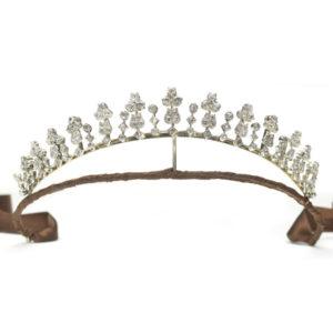 Antique Victorian Diamond Tiara Necklace