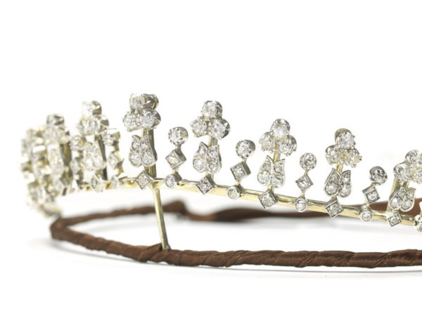 Antique Victorian Diamond Tiara Necklace
