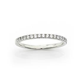 De Beers Diamond Half Eternity Ring