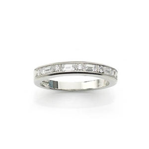 Brilliant & Baguette Cut Diamond Half Eternity Ring