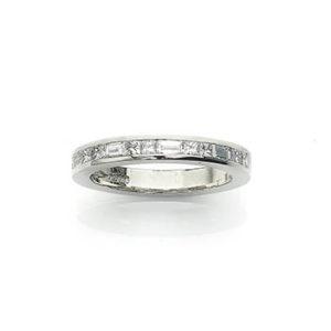 Princess & Baguette Cut Diamond Half Eternity Ring
