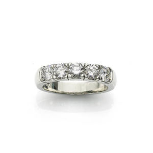 Five Stone Diamond Half Eternity Ring
