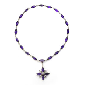 Antique Victorian Amethyst and Diamond Necklace